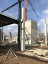 The Bakery for Panerex, Buro B, industriebouw, kantoor - stellen van prefab betonkolommen gelijkvloers - The Bakery